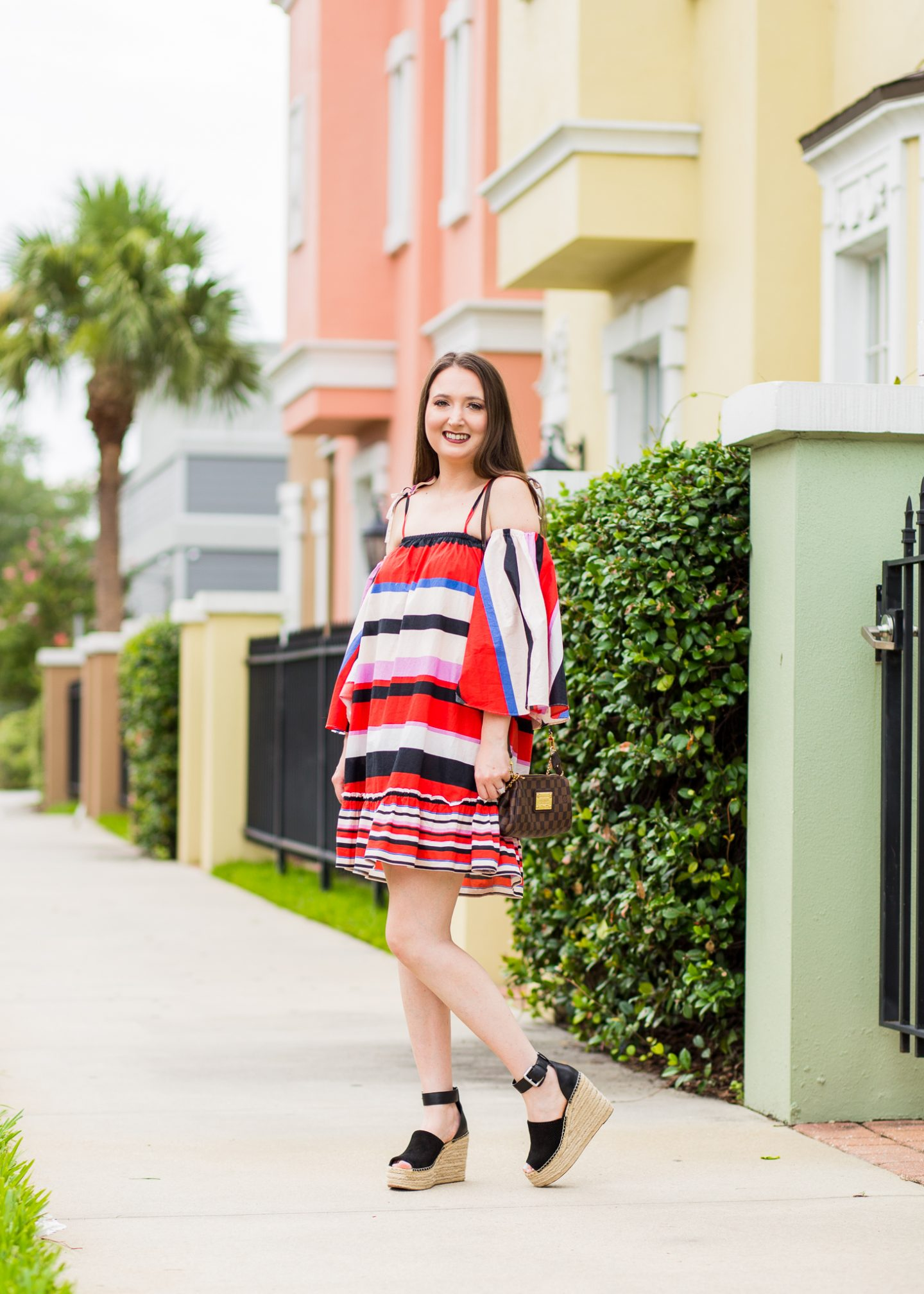 bright dress, multicolor striped dress, nicholas amalfi dress, n/nicholas dress, summer style