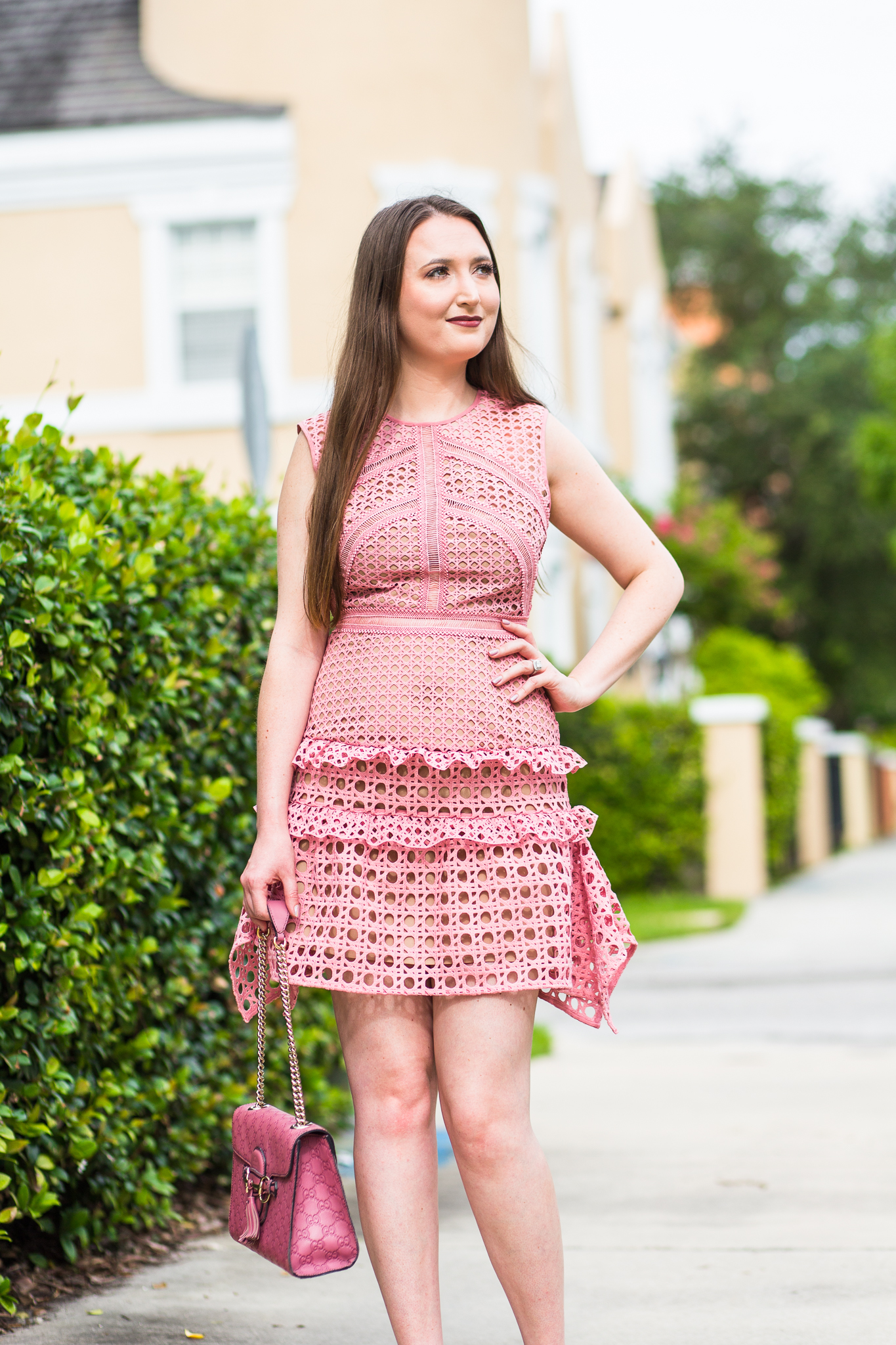 All Pink Everything Glamour Dress And Heels Christinabtv