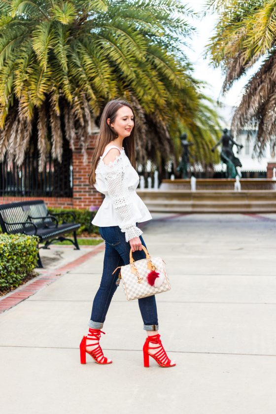 A pop of color with Sam Edelman heels