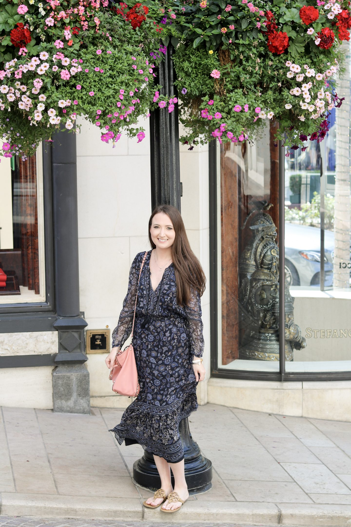 Traveling to LA: Beverly Hills & USC Football| rodeo drive, joie, tory burch, free people, fall outfit, fall dress