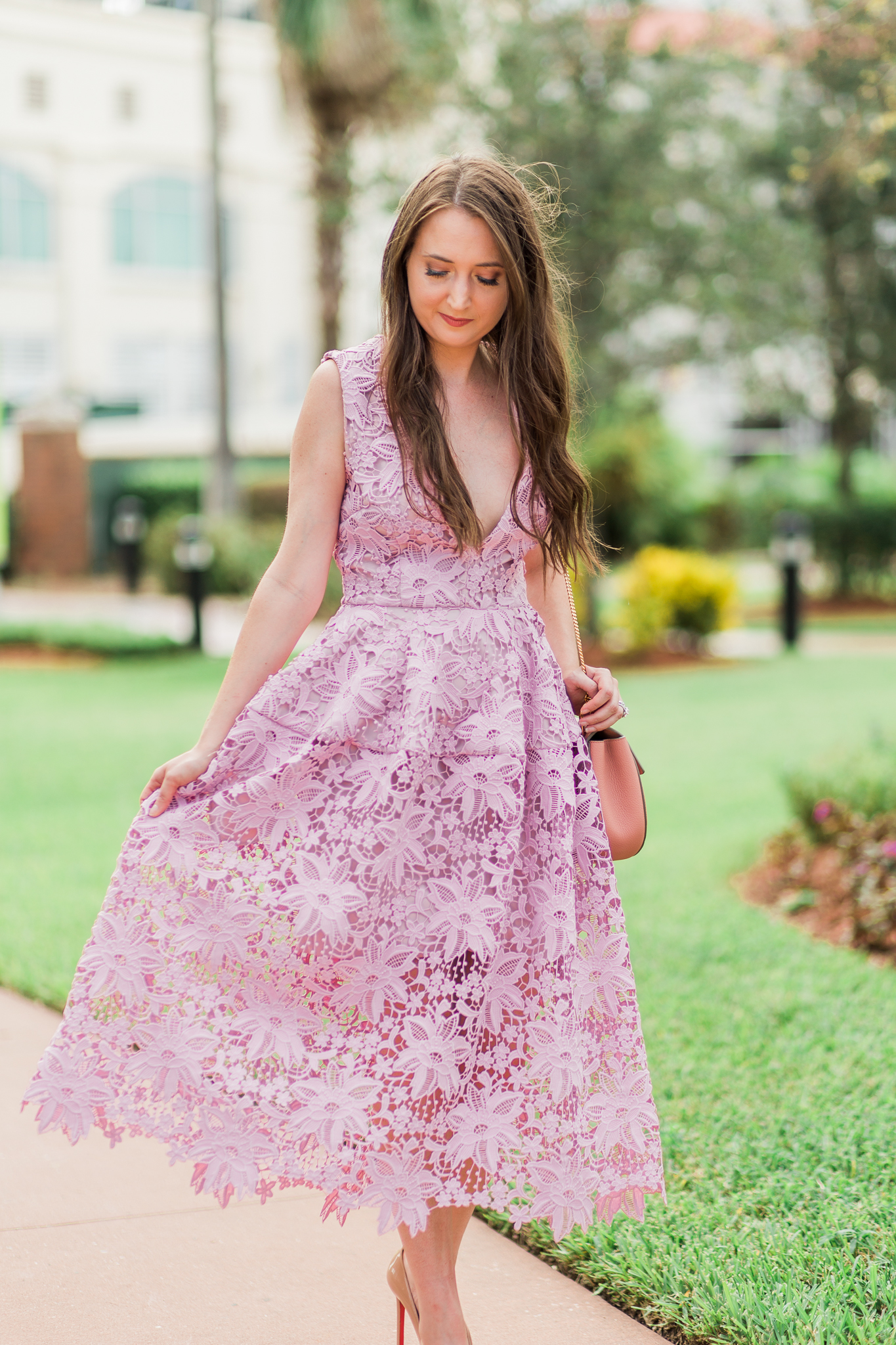 A pink lace dress & why I would rather be overdressed| Nicholas bellflower dress, christian louboutin pigalle, pigalle plato, Chloe drew, pink lace dress, lace dress, pink dress, pink and red outfit, fashion inspiration, christinabtv, fashion blogger, lace dress