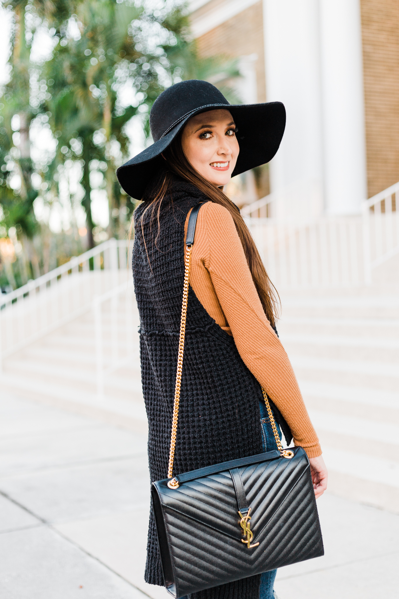 Hi-low sweater and layers for Fall