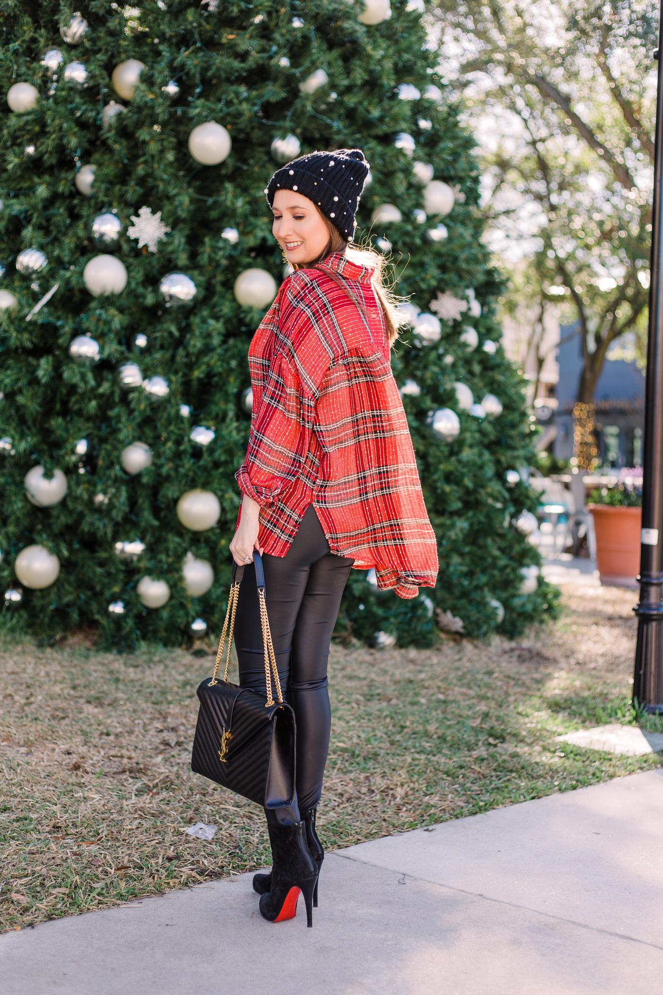 Free people plaid shirt for the Holidays