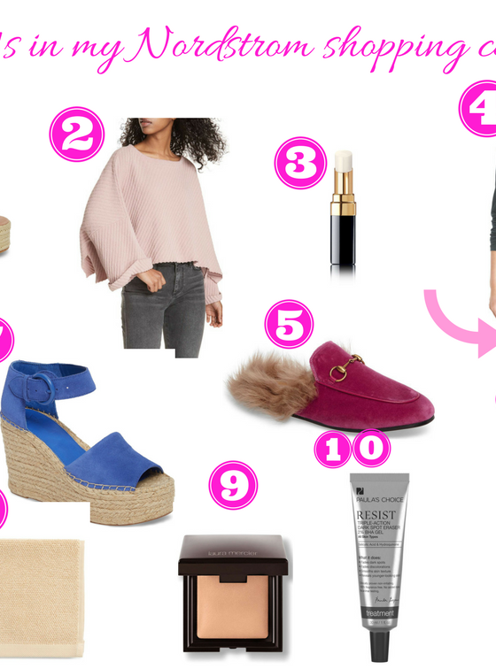 What's in my Nordstrom shopping cart