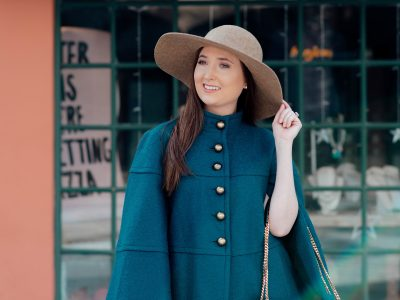 How to define your personal style this year, cape, free people busted knee jeans, ysl bag, ysl black and gold bag, ysl envelope bag, spring fashion 2018, spring fashion inspiration, wool floppy hat, spring fashion Inspo