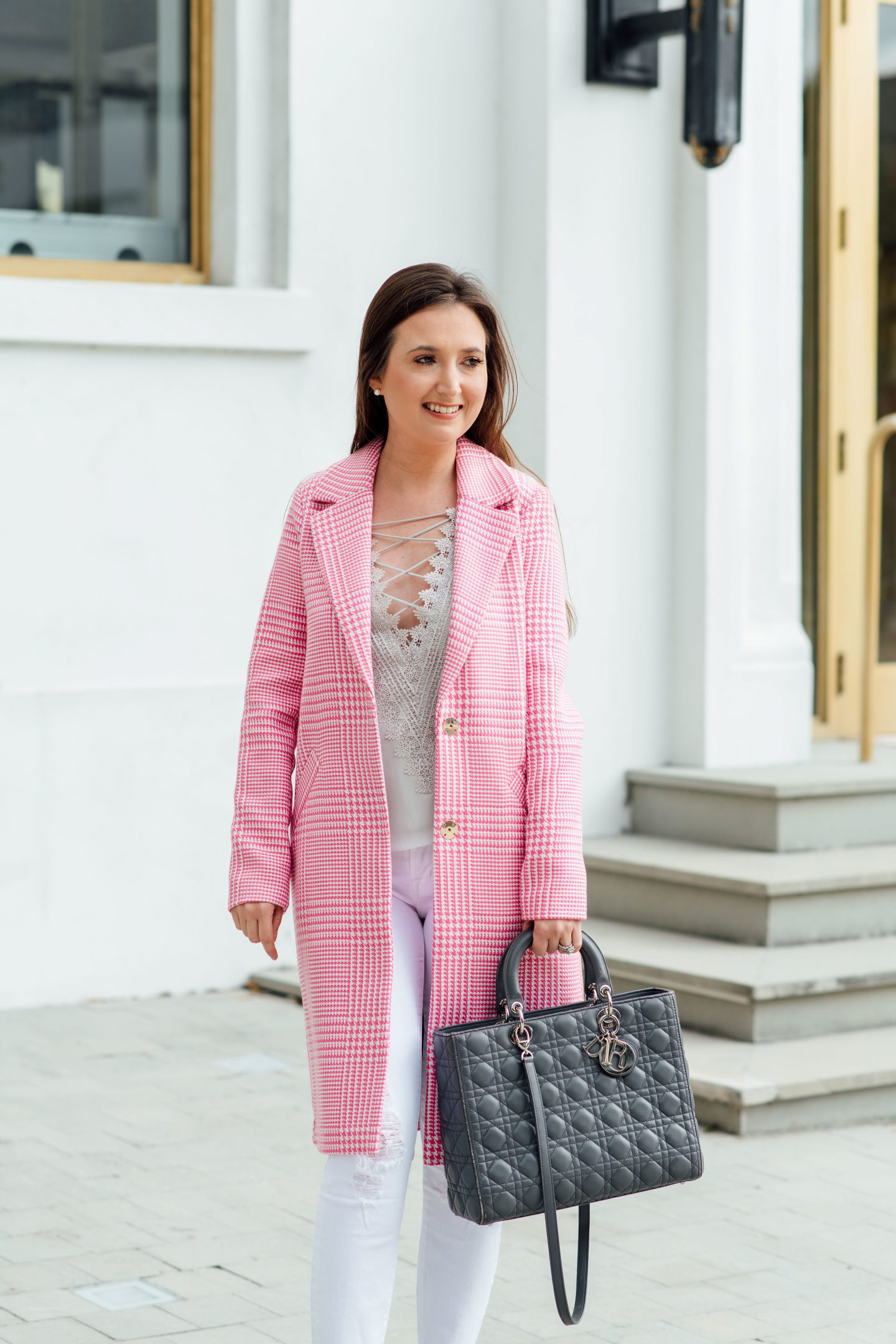 How to Dress Classy the Right Way, layered look, pink coat