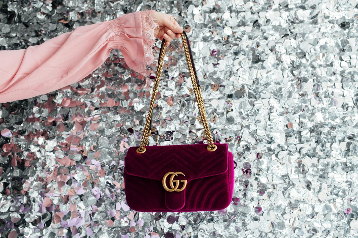 5 SIGNS YOU NEED GLAMOUR IN YOUR LIFE, Asos pink top, ASOS, Gucci Marmontsmall velvet, Gucci marmont small bag, Gucci marmont velvet bag