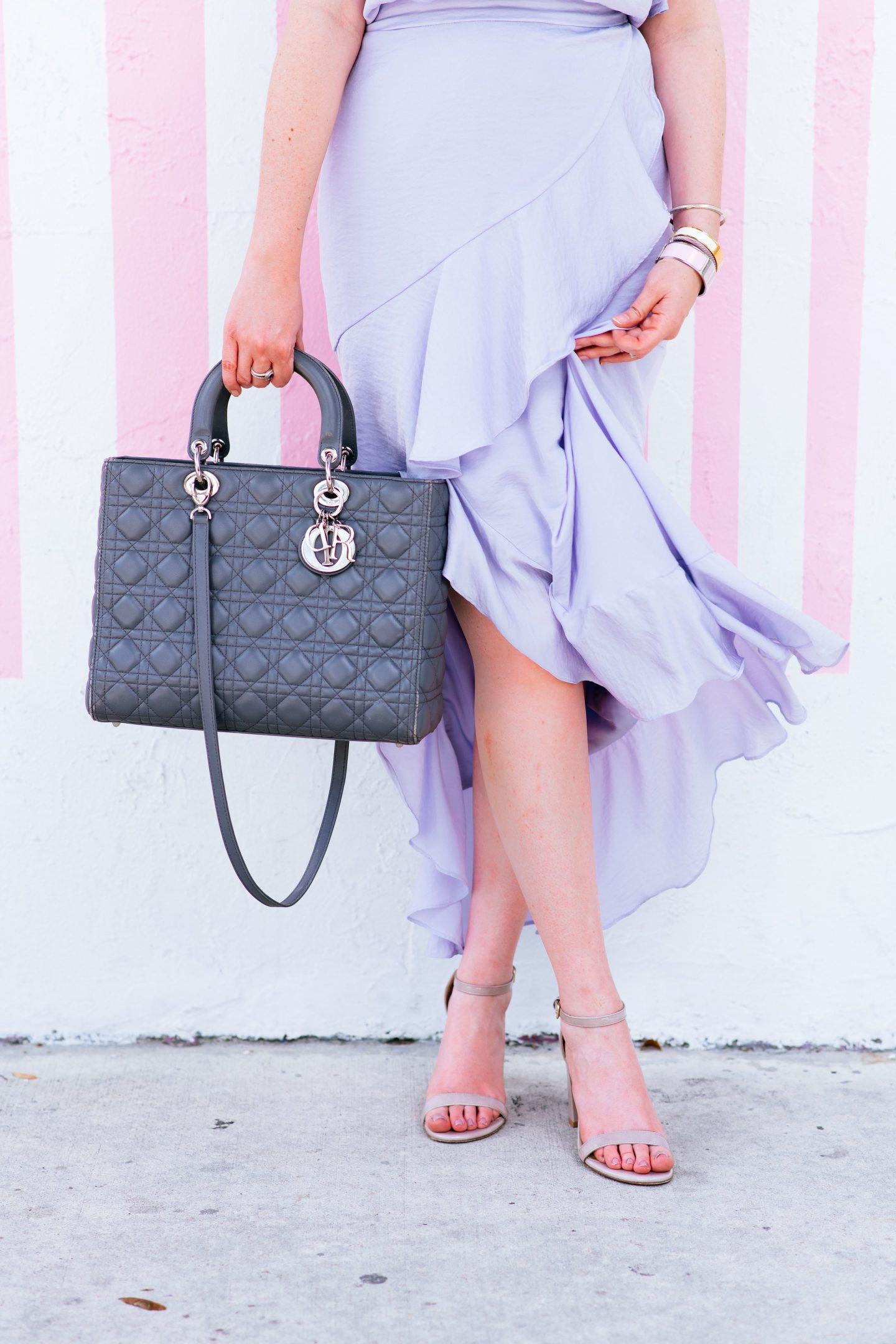 THE REAL REASON WHY I ONLY BUY LUXURY HANDBAGS,reason why I only buy luxury handbags, lady Dior large, lady Dior bag, Stuart weitzman barely nude, spring fashion dress, christian Dior, summer fashion 2018