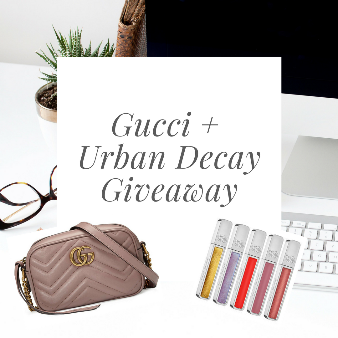 HUGE GIVEAWAY FOR A GUCCI BAG & URBAN DECAY