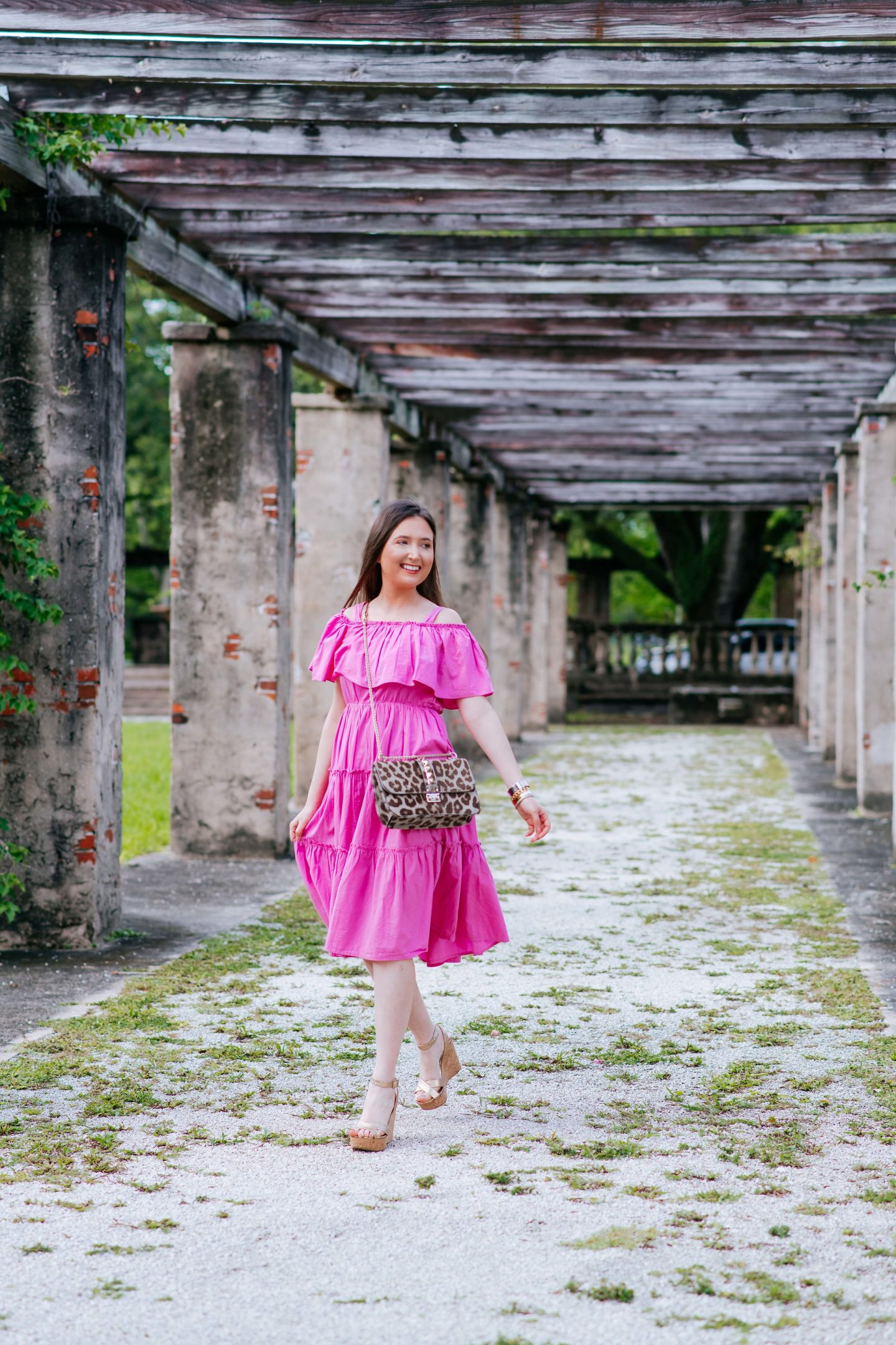 Why a midi dress works year round (even if you don't live in the tropics), midi dress, how to style a midi dress, valentino glam lock bag, midi dress year round, how to wear a midi dress, where to buy a midi dress