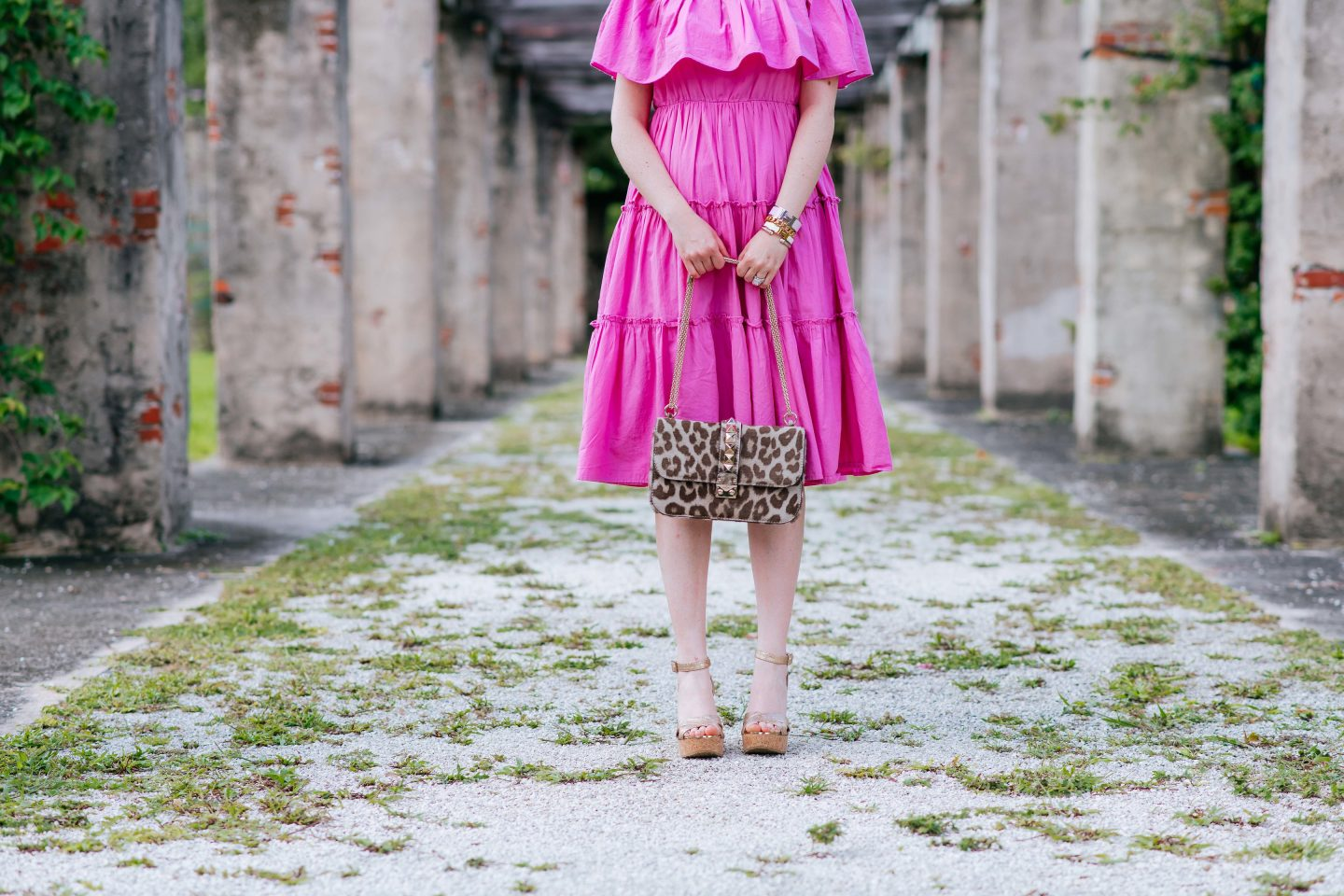 Why a midi dress works year round (even if you don't live in the tropics), midi dress, how to style a midi dress, valentino glam lock bag, midi dress year round, how to wear a midi dress, where to buy a midi dress, how to style a midi dress