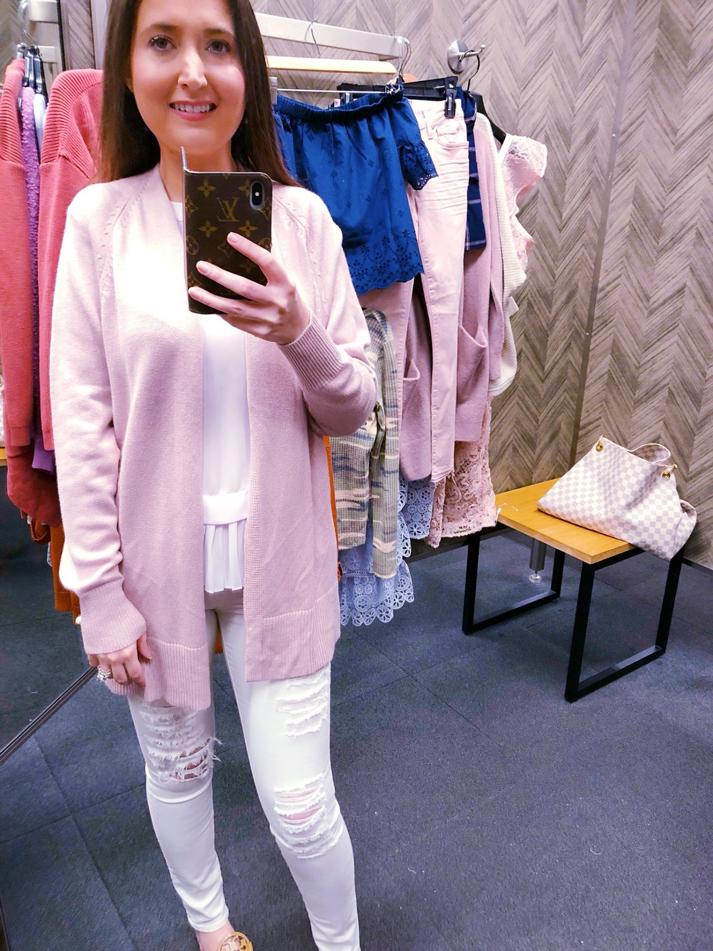 Madewell Ryder cardigan, pink cardigan, Nordstrom anniversary sale, Nordstrom anniversary sale 2018, Nordstrom anniversary sale haul, Nordstrom anniversary sale dressing room try-on