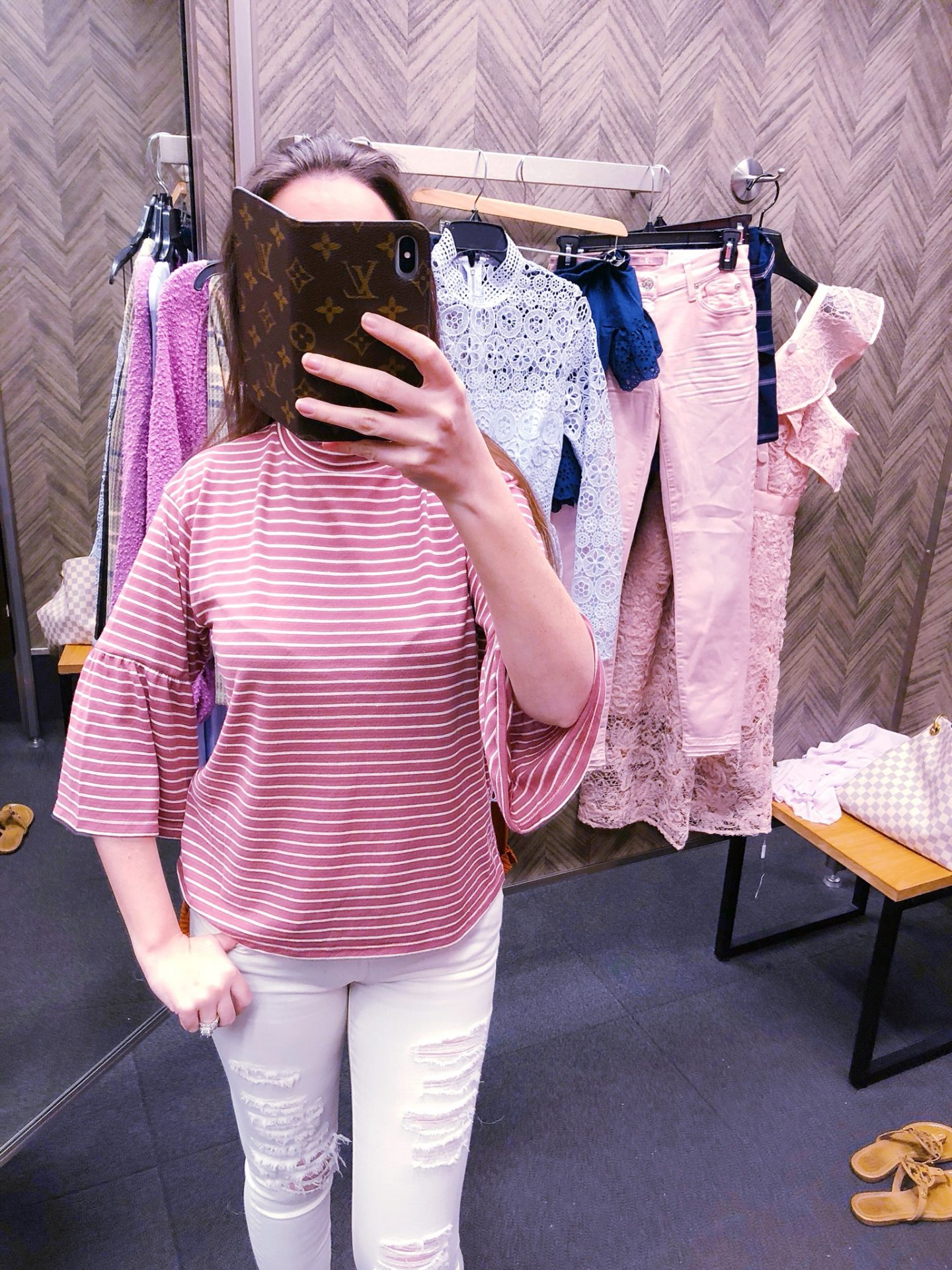 billabong top, billabong today's crush bell sleeve top, striped bell sleeve top, Nordstrom anniversary sale, Nordstrom anniversary sale 2018, Nordstrom anniversary sale haul, Nordstrom anniversary sale dressing room try-on