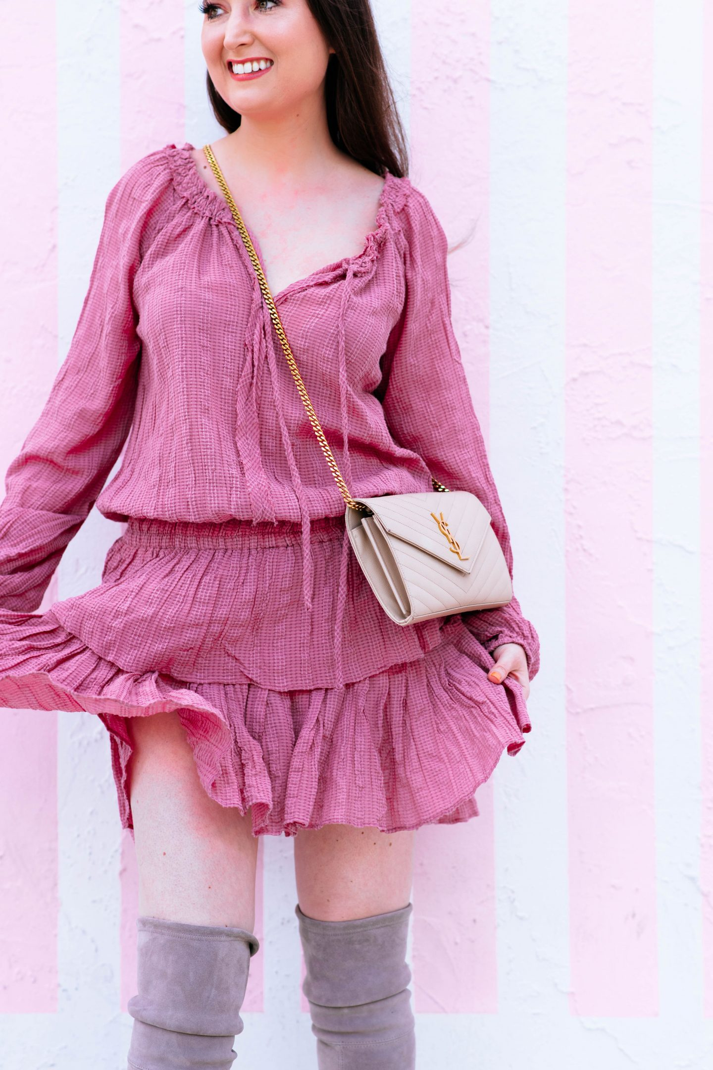10 Easy To Copy Outfits That Will Make You Look Expensive, look expensive, loveshackfancy popover dress, pink dress