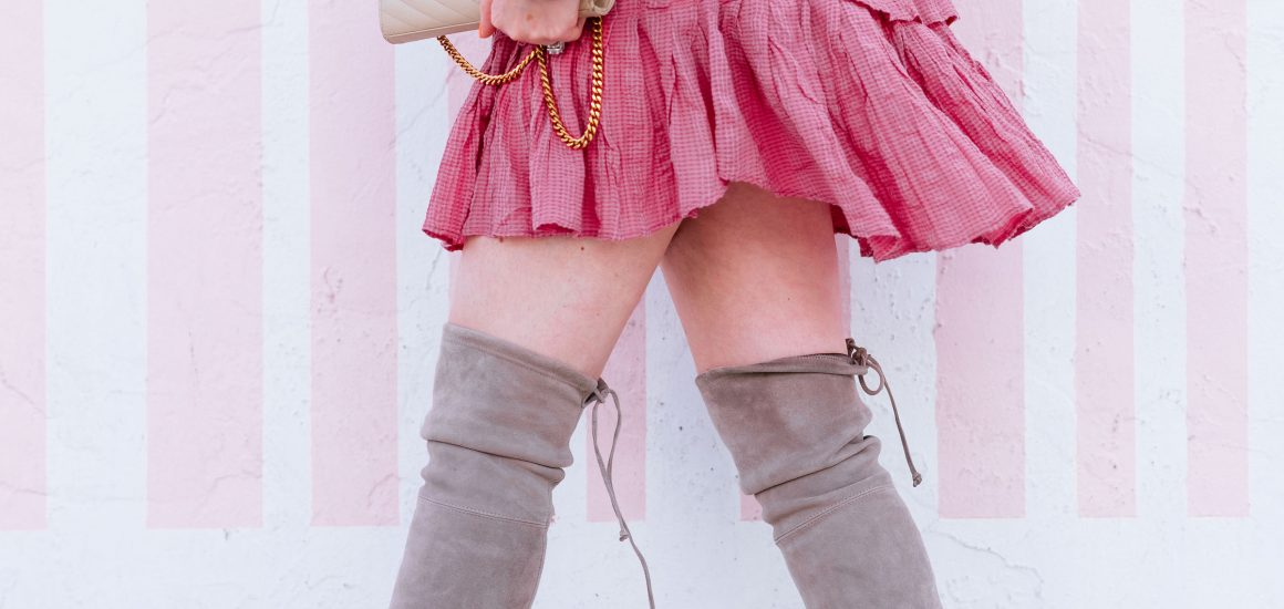 Best way to wear over the knee boots without looking trashy