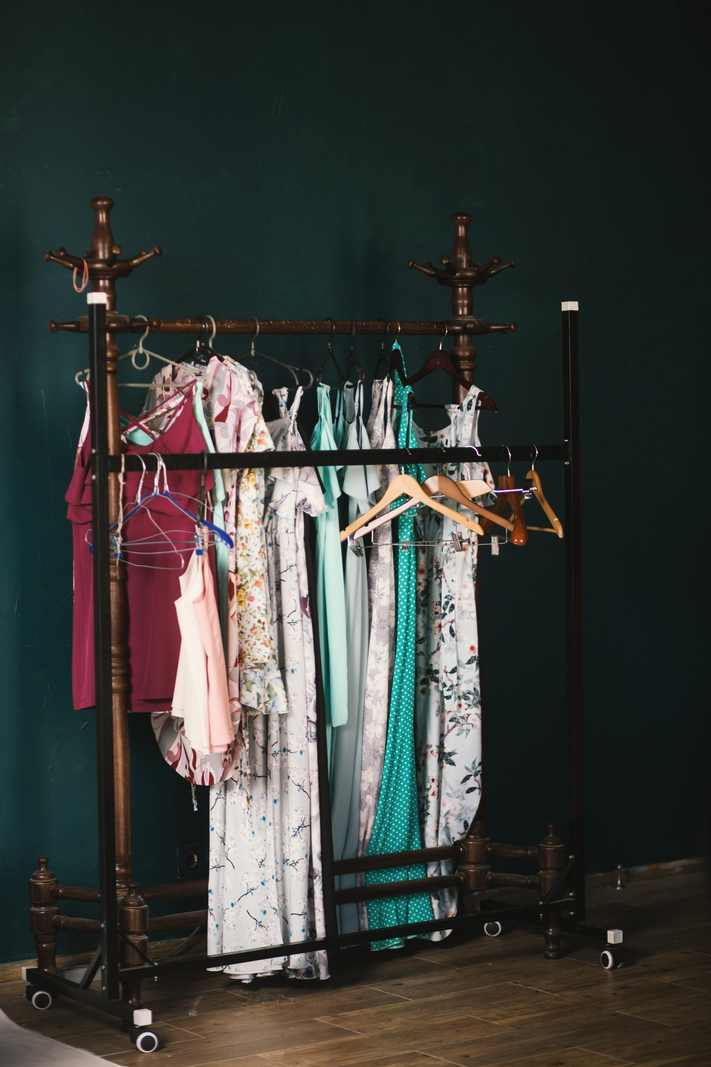 Too many clothes, nothing to wear? Here's How to Fix It, rolling rack, clothes rack, fashion blog
