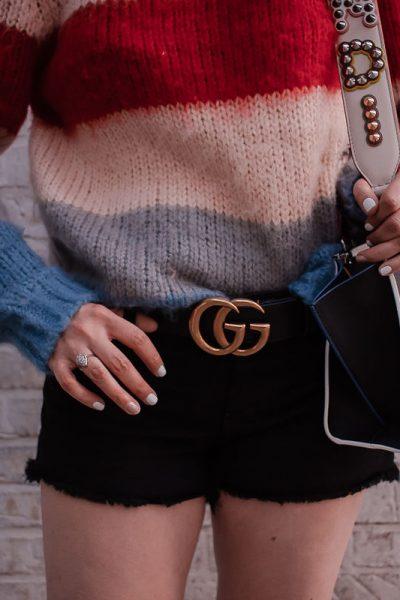 How To Wear A Designer Belt: Gucci & Louis Vuitton
