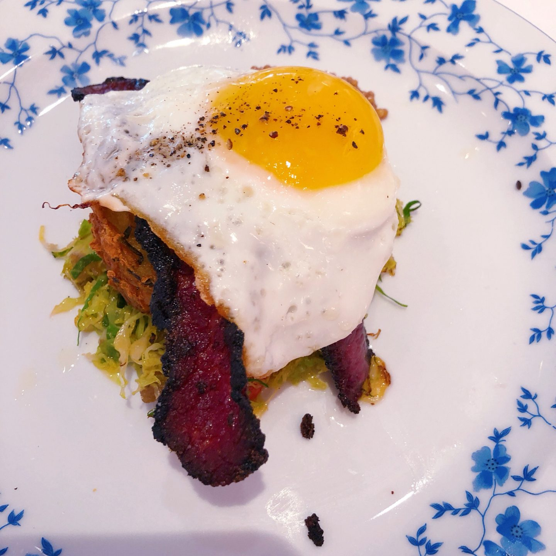 plate of wagyu pastrami hash