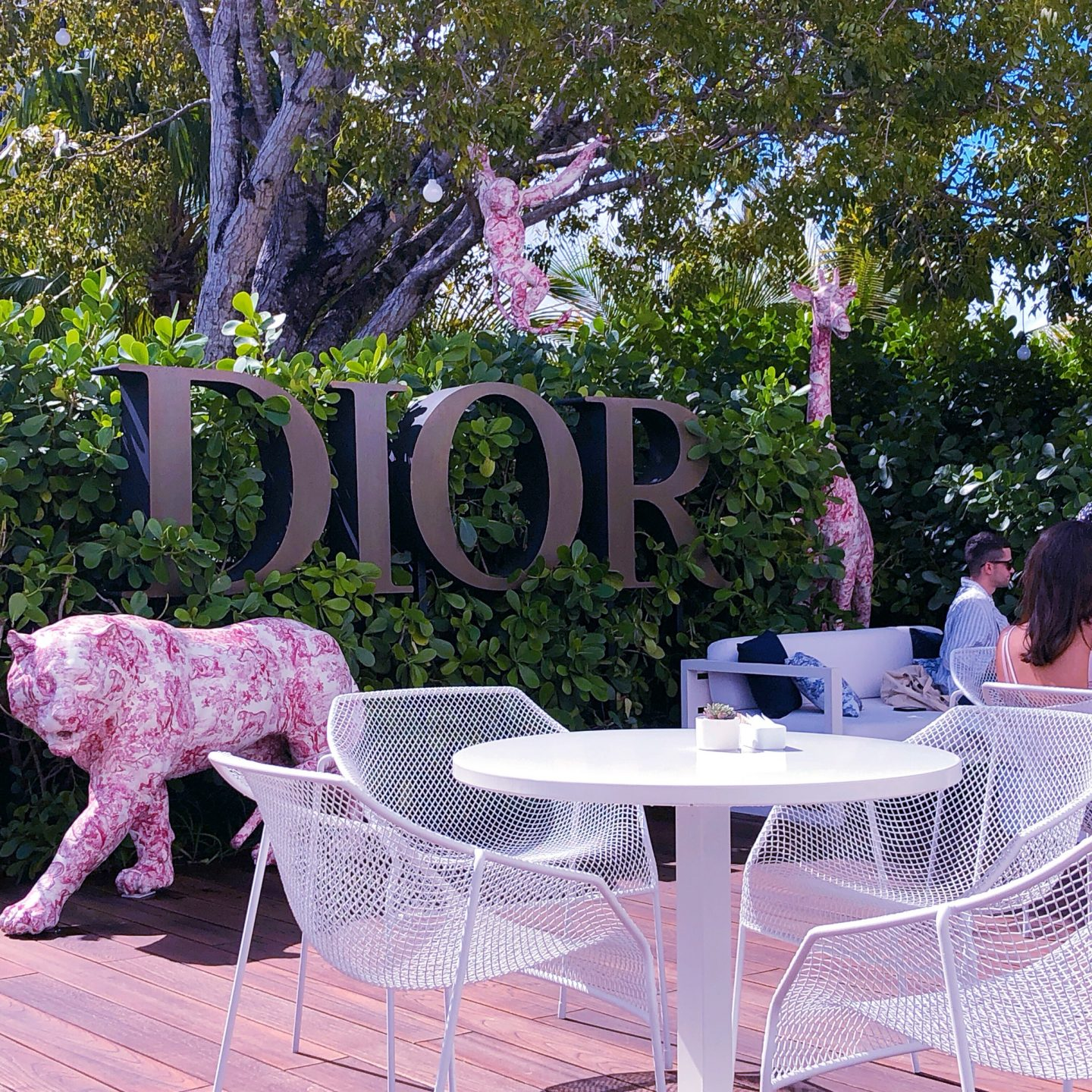 Dior Cafe Miami, cafe dior, cafe dior miami, what cafe dior miami looks like, dior jungle,
