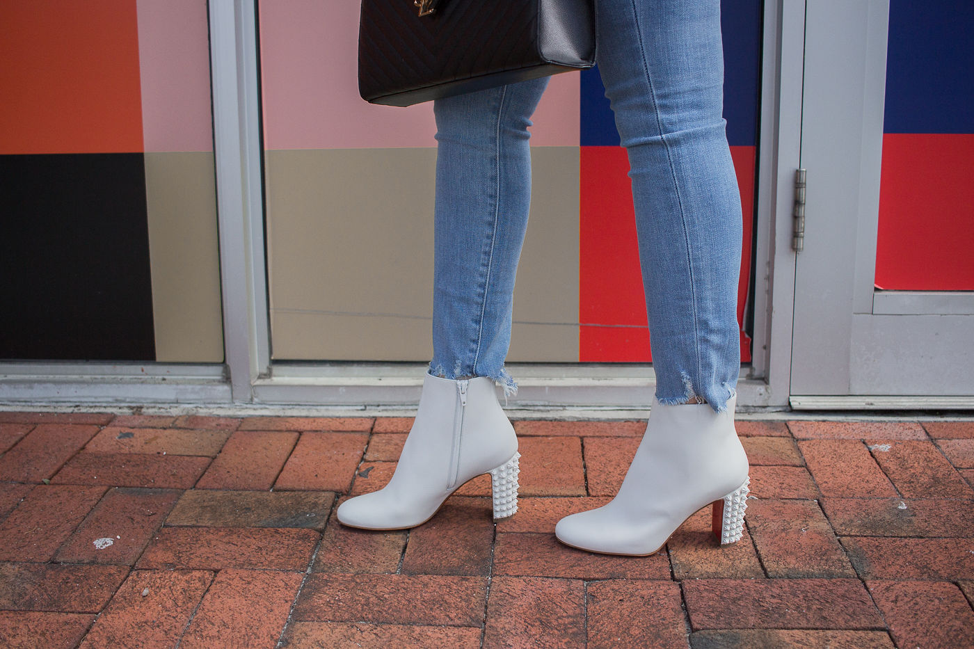 How To Wear White Boots All Year, white booties, white boots, christina louboutin suzi, louboutin white suzi booties,