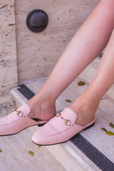 5 Best Designer Shoes You Can't Live Without This Summer, gucci mules, gucci pink mules, gucci princetown mules