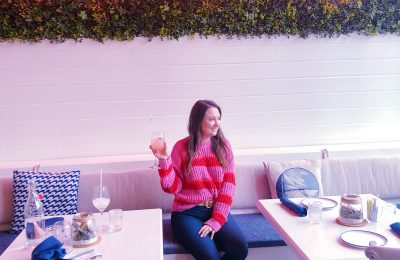 All The Amazing Things I Did On My Chicago Trip, red and pink striped sweater