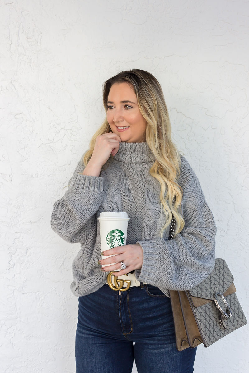Look Expensive This Fall With These 3 Tips, amazon sweater, amazon fashion finds, abercrombie jeans, gucci dionysus, fall look, fall inspo, best fall sweater, cute fall sweaters
