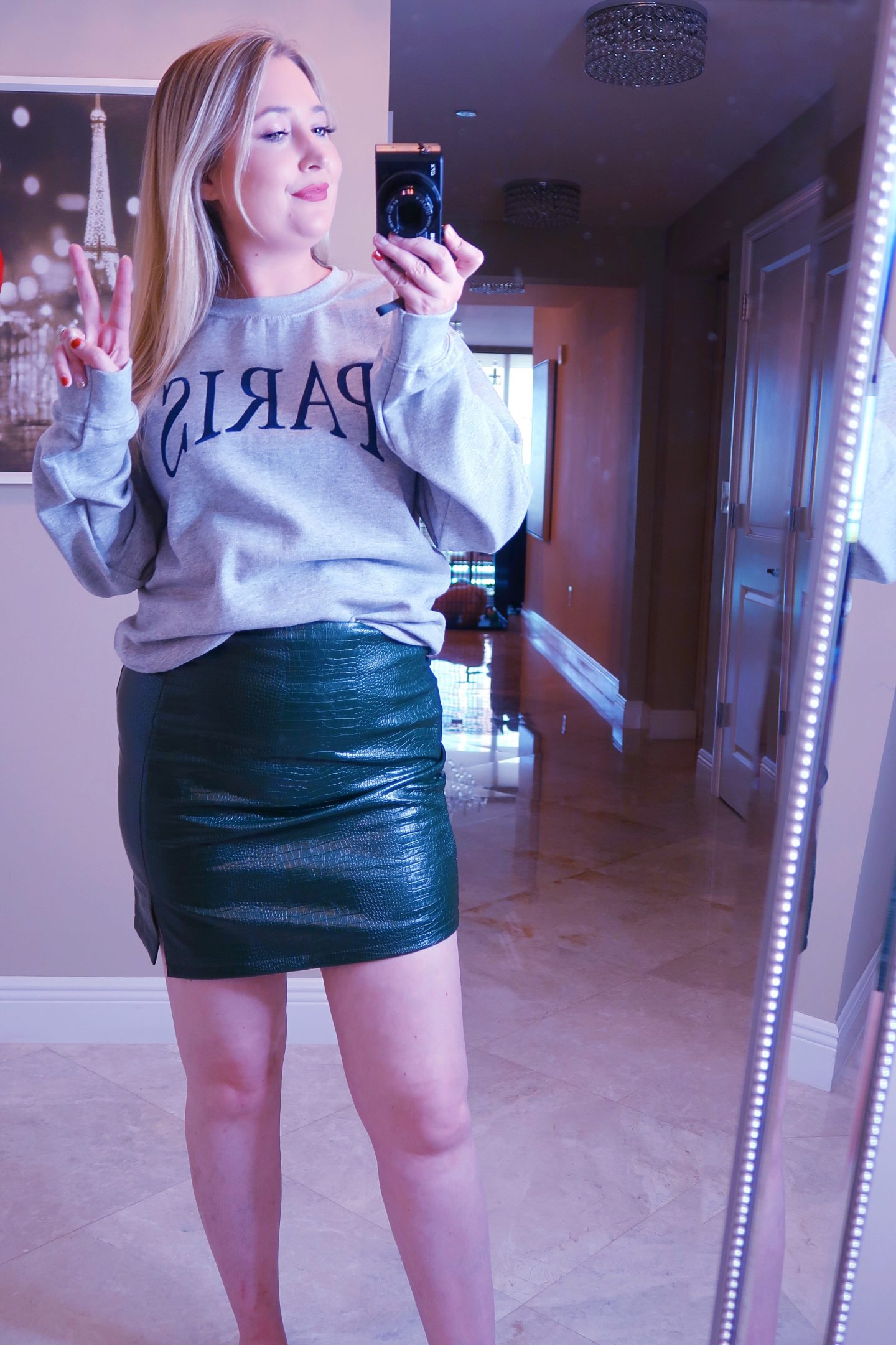 Nordstrom Haul | Everything You Need To Look Good!, nordstrom haul, whats new at nordstrom,, paris sweatshirt, green snakeskin skirt