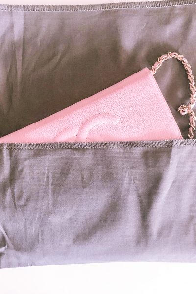 My First Chanel Bag, chanel wallet on chain, chanel classic wallet on chain, chanel woc, chanel pink woc, chanel pink wallet on chain, pink classic wallet on chain, pink chanel bag, fashionphile unboxing