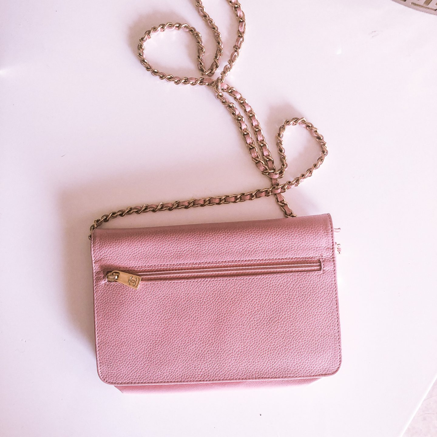 My First Chanel Bag, chanel wallet on chain, chanel classic wallet on chain, chanel woc, chanel pink woc, chanel pink wallet on chain, pink classic wallet on chain, pink chanel bag